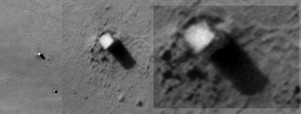Lunar Explorer Italia has a peek at the monolith.