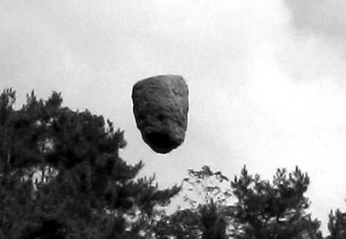 A Floaty 'Rock' UFO in China, cropped.