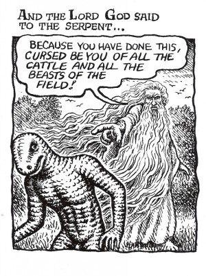 The Bible Illuminated: ...from Crumb's book, The Book of Genesis. Click to read a Crumb article @ Dirt Floor.