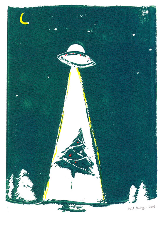 UFO Abduction. Copyright 2005 Phil Scroggs.