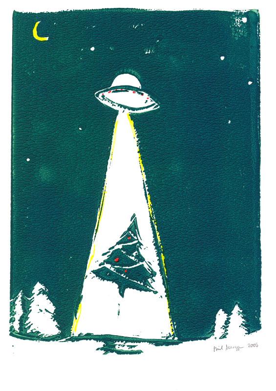 UFO Abduction. Copyright 2005 Phil Scroggs.