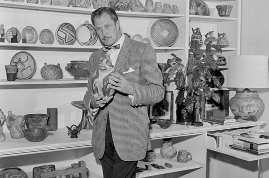 Vincent Price in his art museum.