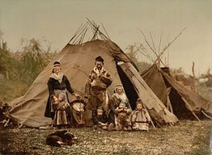 A Sami family in Norway around 1900 (via Wikipedia)
