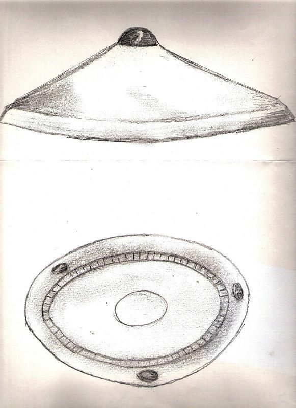 "Westall ufo drawn by ""V"" himself."