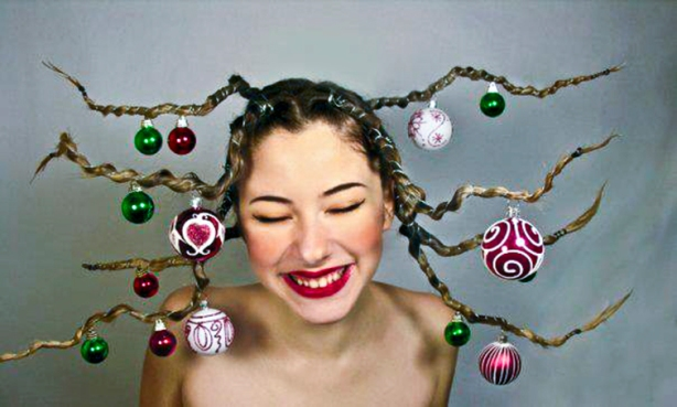 Christmas Tree Hair!