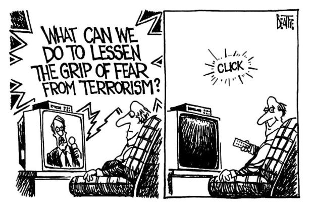 Reduce your fear of terrorism!